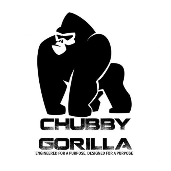 Chubby Gorilla 10ml Clear Stubby V3 Solid Black Cap